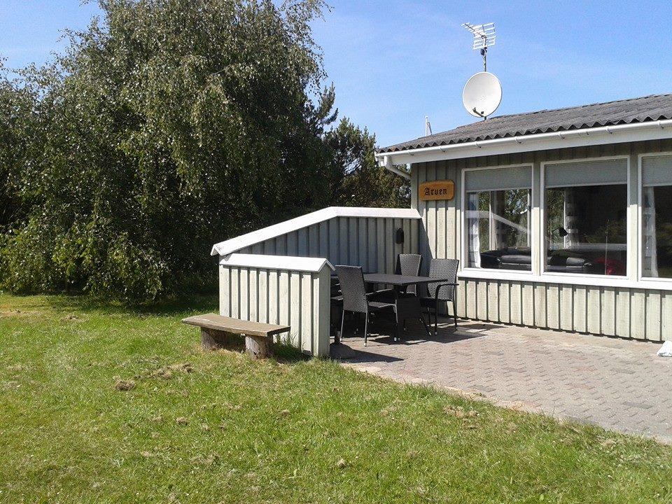 Terrasse med læ